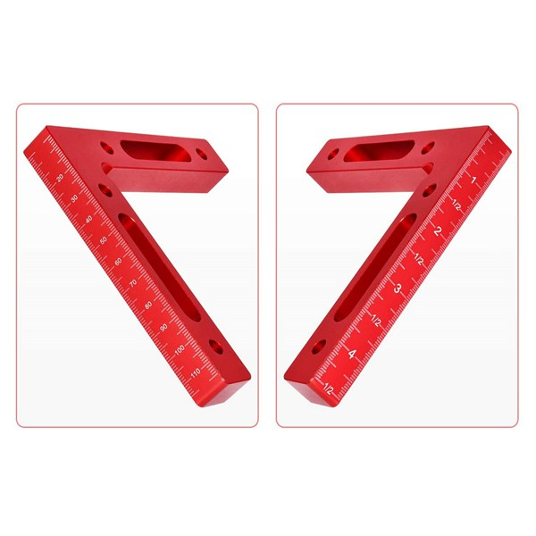 KDOI 2 Pcs Aluminium Alloy 90 Degree Positioning Squares Right Angle Clamps Woodworking Carpenter Tool Corner Clamping Square